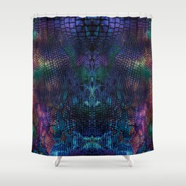 Violet snake skin pattern Shower Curtain