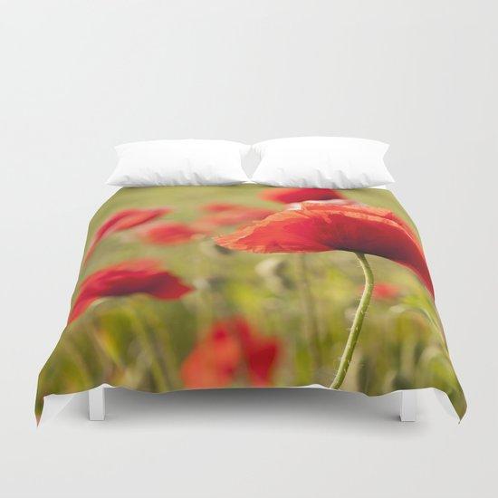 Romantic Poppy field Duvet Cover