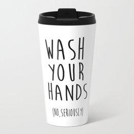 Wash Your Hands Bathroom Print Bathroom Decor Nursery Print Nursery Quote So Fresh And So Clean Travel Mug