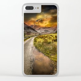 Valley Sunset Snowdonia Clear iPhone Case