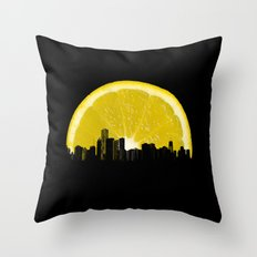 super lemon Throw Pillow