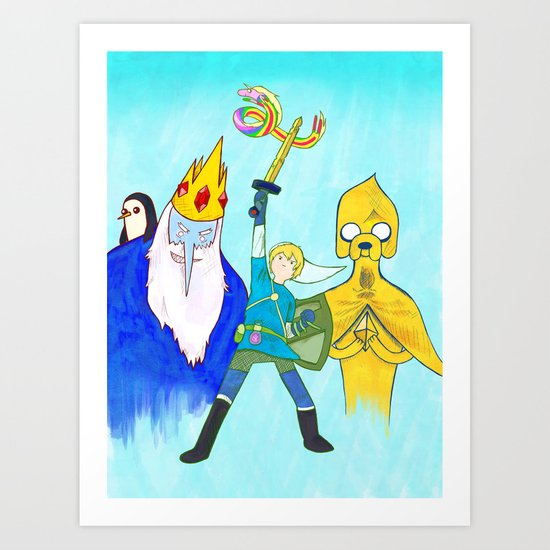 The Legend of Bubblegum: Skyward Jake Art Print