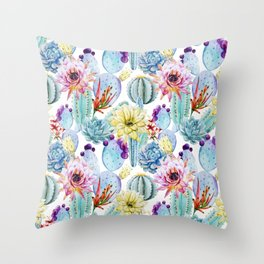 Cactus Pattern 11 Throw Pillow
