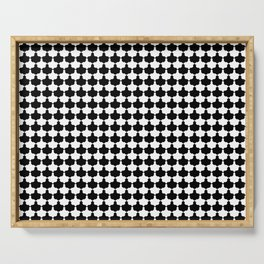 Black and White Scallop Repeat Pattern Serving Tray