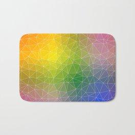Triangulated Rainbow Background Pattern Bath Mat