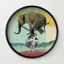 Elephant Balance Wall Clock