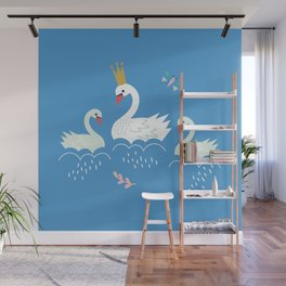 Swanning About Wall Mural