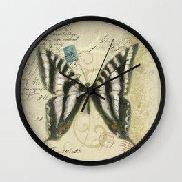 Zebra Butterfly Wall Clock