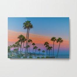 Corona Del Mar Sunset Palms Metal Print