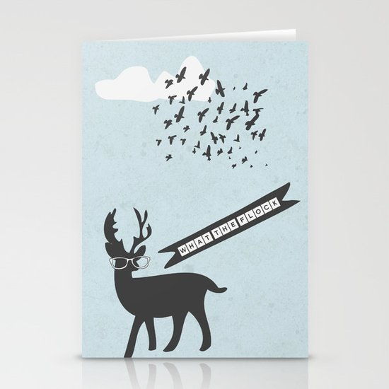{What the flock} Stationery Cards