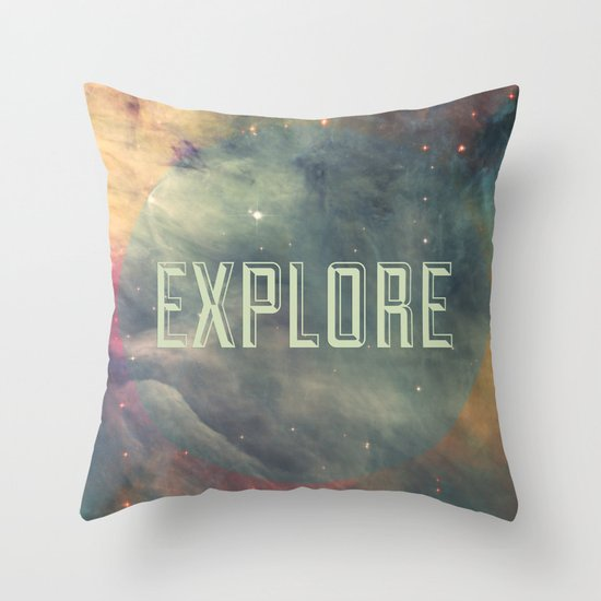 Explore III Throw Pillow