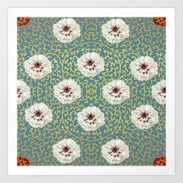 Pretty Peonies Pattern Art Print