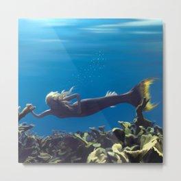 Mermaid - Blue Lagoon Metal Print