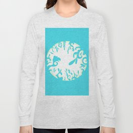 Abstractly Blue  Long Sleeve T-shirt