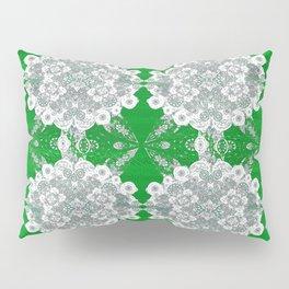 Deep Lime Green Lace Pillow Sham
