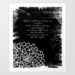 Charles Baudelaire - The Temptation - She consoles me like the night Art Print