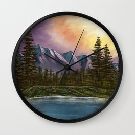 Spring Paint Along with Bob Ross on Netflix ep.1 Wall Clock