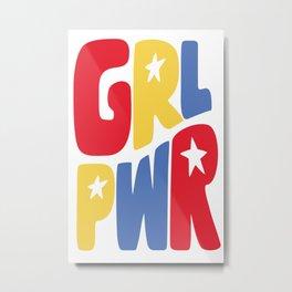 GRL PWR Star Metal Print