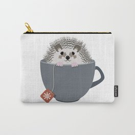 Holiday Tea Cup Hedgehog Carry-All Pouch