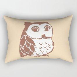 Brown Owl Rectangular Pillow