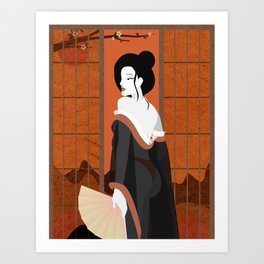 Modern day geisha Art Print