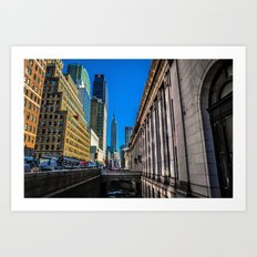 Looking Out at the Empire State Building Art Print