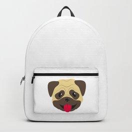 Smiling pug face Backpack