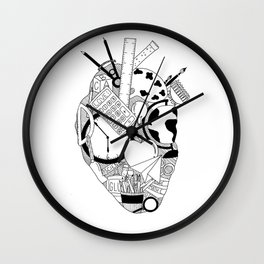 Heart of a Teacher Wall Clock