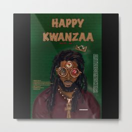 KWANZAA Gifts and Cards for a King Metal Print