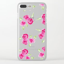 Cheerful Rose Clear iPhone Case