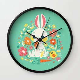 Sweetest Easter Bunny Wall Clock