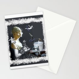 Hoop Diving in the Frost Stationery Cards