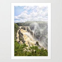 Barron Falls under a summer sky Art Print
