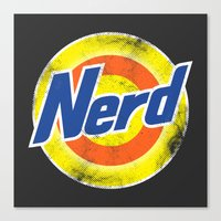 nerd Canvas Prints featuring Nerd by Yanmos