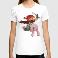 gore T-shirts featuring Hoojo of Minecraftia - Gore Edition by Angry Adventure