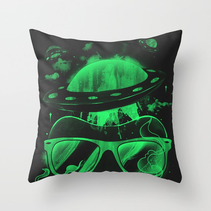Hipster Invasion Throw Pillow