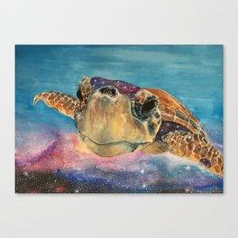 One Turtle's Secret Canvas Print