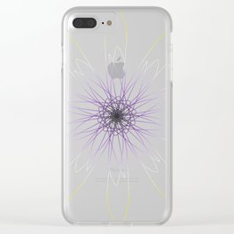 Non-Binary Pride Spirograph Clear iPhone Case