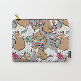 Bull-Terrier-Unicorn Carry-All Pouch