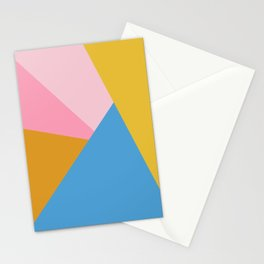 Cute Colorful Diagonal Color Blocking Stationery Cards