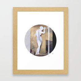Hayez Paper Woman Collage Framed Art Print