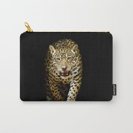 Awesome Phenomenal Adult Jungle Leopard Isolated Ultra HD Carry-All Pouch