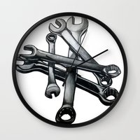 tool Wall Clocks featuring Tool by LewisLeathers