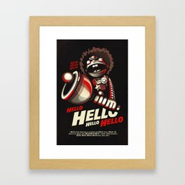 HELLO! HELLO! (black) Framed Art Print