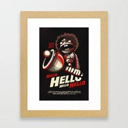 HELLO! HELLO! (black) Framed Art Print