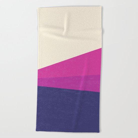 Stripe IV Violet Ray Beach Towel
