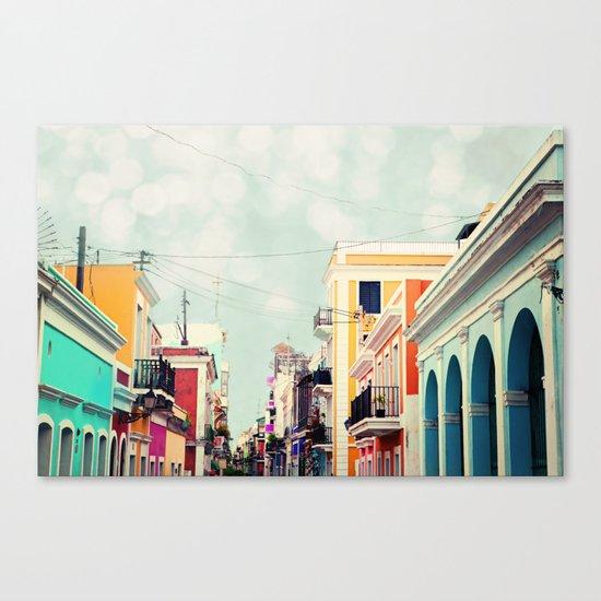 Colorful Buildings of Old San Juan, Puerto Rico Canvas Print