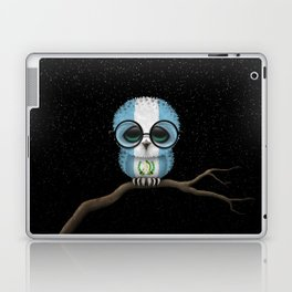 Baby Owl with Glasses and Guatemalan Flag Laptop & iPad Skin