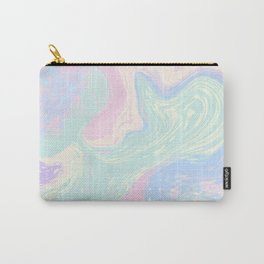 Elegant Pastel Marble. Digital Suminagashi Liquid Color Abstraction Carry-All Pouch