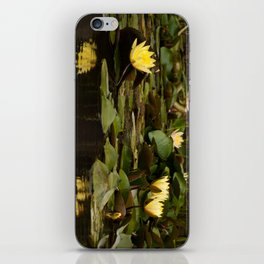 Yellow lilies reflected iPhone Skin